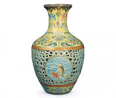 QIANLONG (Chinese) Porcelain Vase _____________________________ Reposted by Dr. Veronica Lee, DNP (Depew/Buffalo, NY, US)