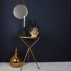 Gold Tripod Side Table | Mad About The House 0 Little Greene Basalt colour