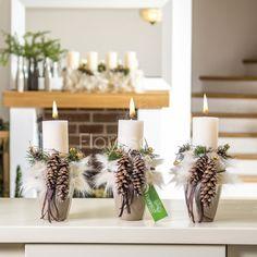 Vánoční svícen na stůl Květinářství Floresco Vyrobila Šárka Pleskačová