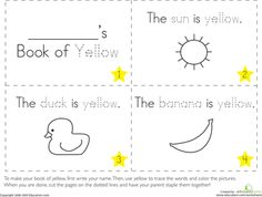 Worksheets: The Color Yellow