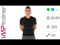 Allenamento Total Body Senza Salti Per Tonificare - Esercizi per Gambe, Glutei, Addominali e Braccia - YouTube