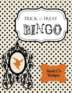 trick or treat bingo printable! so much fun for halloween parties or passing out candy