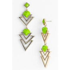 Guinevere 'Duel Trap' Earrings Black ($18) ❤ liked on Polyvore