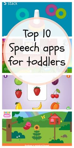 TOP 10 SPEECH APPS FOR TODDLERS