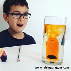 Volcano For ages ⋆ Raising Dragons Such a fun, simple science experiment for kids to do at home!Such a fun, simple science experiment for kids to do at home! Science Experiments For Preschoolers, Science Projects For Kids, Science Crafts, Cool Science Experiments, Stem Science, Science Fair, Science For Kids, Science Games, Summer Science