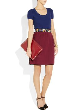 Sonia by Sonia Rykiel|Jewel-embellished belted knitted cotton dress|NET-A-PORTER.COM, $500