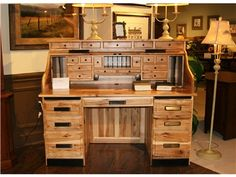 Charmant Shop+for+Amish +Oak+and+Cherry+American+Made+Rustic+Hickory+Roll+Top+Desk,+,+and+other+Home+Office+Desks+at+Hickory+ Furniture+Mart+in+Hickory,+NC.