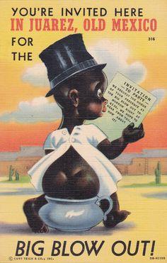 Postcard Youre Invited, Vintage Postcards, Invitations, Humor, Comics, Black Body, Retro, Big, Water Pond