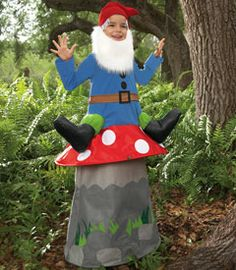 gnome-on-a-mushroom child costume - Chasing Fireflies