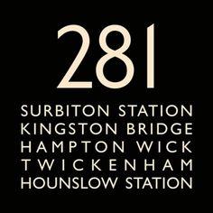 London Bus Blind Bus Route 281