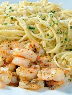 Spicy Shrimp and Spaghetti.