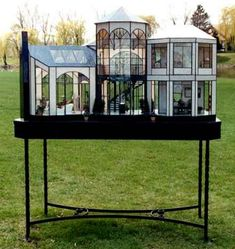 lady jane miniatures Miniature Greenhouse, Glass Display Case, Absolutely Stunning, Stained Glass, Glass Art, Display Case, Glass Showcase, Jar Art, Stained Glass Windows