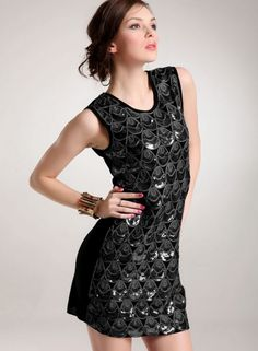 New Style Simple Droplets Shape Design Paillettes Occasion Vest Dress--Click the picture can place an order, we support wholesale.