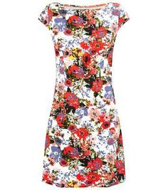 Cutie New Look Cutie White Floral Print Bodycon Dress #bodycon #women #covetme