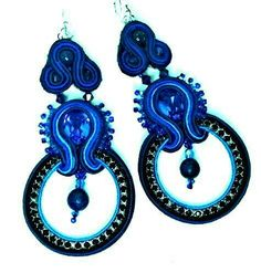 Biondi's blue soutache earrings