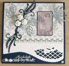 New Marianne Design dies Hand Made Greeting Cards, Making Greeting Cards, Vintage Greeting Cards, Vintage Postcards, Scrapbooking Layouts, Scrapbook Cards, Marianne Design Cards, Quilling Cards, 3d Cards