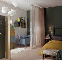 Separation Pour Chambre la séparation de pièce amovible, optez pour un rideau! | chambre