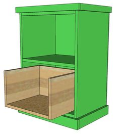 Ana White   Build a Build Your Own Office - Narrow File Drawer Base Unit   Free and Easy DIY Project and Furniture Plans