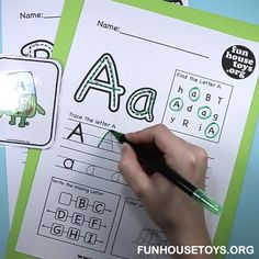 ABC printables to make writing as fun as exciting as it should be for beginners.Preschool Worksheets - Easy Crafts for All Kindergarten Writing Activities, Preschool Learning Activities, Preschool Curriculum, Preschool Printables, Preschool Alphabet, Kids Alphabet, Montessori Education, Alphabet Worksheets, Worksheets For Kids