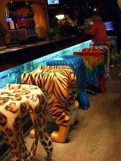 Animal bar stools from Rain Forest Cafe!