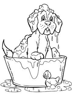 Dibujo para colorear de perros (nº 9)