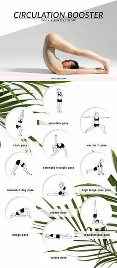 Get flowing with these circulation boosting yoga sequence. #YogaSequences