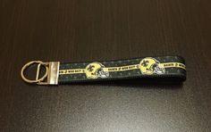 NFL New Orleans Saints Logo Wristlet FOB Keychain by ByChinchie