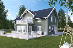 Villa Vendelsö från A-hus Home Fashion, Shed, Villa, House Ideas, Outdoor Structures, Cabin, Mansions, House Styles, Building