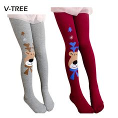 >> Click to Buy << 2015 Christmas clothing baby girls tights wapiti cotton tights kids girls pantyhose warm winter children's stockings 2-7Y #Affiliate