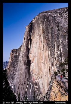 Half Dome, Yosemite-Dennis, Cole, and Callie have seen the view from the top! I preferred looking up at it!