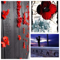 Anzac Day montage.