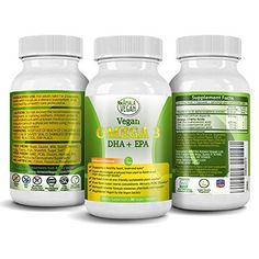 Best Vegan Potent Organic Omega 3 Supplement (Capsules)