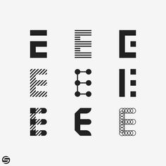 E Letter Logo Options on Behance – 81 İl Türkiye E Letter Design, Graphic Design Letters, Lettering Design, Branding Design, E Design, Icon Design, Two Letter Logo, Wall Logo, Clothing Logo
