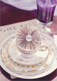 New ideas wedding themes music place settings Purple Wedding, Trendy Wedding, Diy Wedding, Dream Wedding, Wedding Ideas, Wedding Card, Wedding Themes, Wedding Decorations, Wedding Dresses