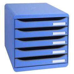 Prezzi e Sconti: #Cassettiera big box plus exacompta blu  ad Euro 60.99 in #Euroffice #Home archivio ufficio