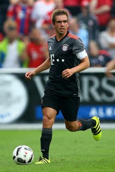 Philipp Lahm of Bayern Muenchen runs with the ball during the friendly match between SV Lippstadt and FC Bayern at Stadion am Bruchbaum on July 16, 2016 in Lippstadt, Germany. The match between Lippstadt and Baern ended 3-4.