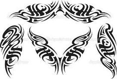Tribal tattoo pattern vector image on VectorStock Tattoo Dragon Tribal, Tribal Back Tattoos, Tribal Shoulder Tattoos, Arrow Tattoos, Tattoo Shoulder, Maori Tattoo Patterns, Tribal Tattoo Designs, Trendy Tattoos, Tattoos For Guys