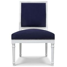 Jonathan Adler Navy Louis Side Chair in Chairs, Benches, And Ottomans