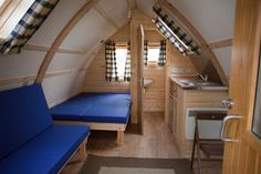 Running Water Wigwam - classed as our deluxe wigwam with en-suite toilet and of course running water! Tiny House Cabin, Tiny House Living, Cabin Homes, Small Living, Wigwam Holidays, Cabin Design, House Design, Arched Cabin, Camping Pod