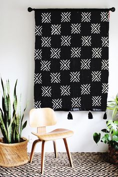Handmade Mudcloth Wall Hanging | iheartnorwegianwood on Etsy