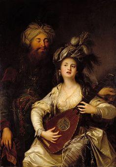"Alman barok ressam Anton Hickel'in ""Roxelana ve Sultan"" adlı tablosu 1780."