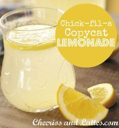 Chick-fil-a copycat lemonade recipe!