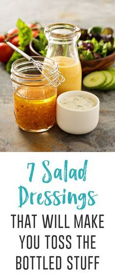 Spruce up those summer salads with these healthy salad dressings you can make yourself, like superfood tahini, sriracha ranch and tropical mango-mint.