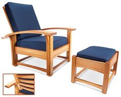 Teds Woodworking   Contemporary Morris Chair And Ottoman   Popular  Woodworking Magazine   Projects You Can Start Building Today