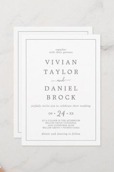 Minimalist Silver Bold Names Wedding Invite with classic silver gray and white typography paired with a vintage hand lettered calligraphy with rustic yet elegant style. Click to customize with your personalized details today. Summer Wedding Invitations, Elegant Invitations, Custom Invitations, Simple Weddings, Romantic Weddings, Elegant Wedding, Wedding Calligraphy, Stationery Paper, Minimalist Wedding