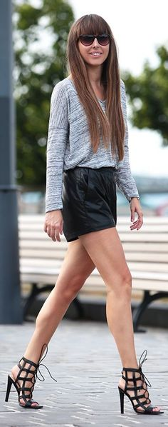 Festy In Style Gray And Black Downtown Cool Fall Inspo