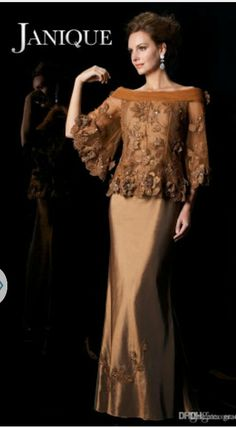 Elegant Gold Appliques Mother Of The Bride Dress 2017 Off Shoulder Flare Satin Mother's Dresses With Sleeves Floor Length Handmade Flowers Source by nadilachairany Mother Of The Bride Dresses Long, Mothers Dresses, Mother Bride, Cheap Dresses, Elegant Dresses, Formal Dresses, Dresses Uk, Lounge Dresses, Peplum Dresses