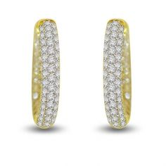 2.10 ctw Yellow Gold Hoops