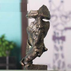7-inch-Face-Sculpture-Statue-Abstract-Modern-Art-Deco