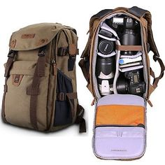 NEW Retro Canvas Theftproof Rucksack DSLR Camera Bag Backpacks For Canon & Nikon | Cases, Bags & Covers | Camera & Photo Accessories - Zeppy.io